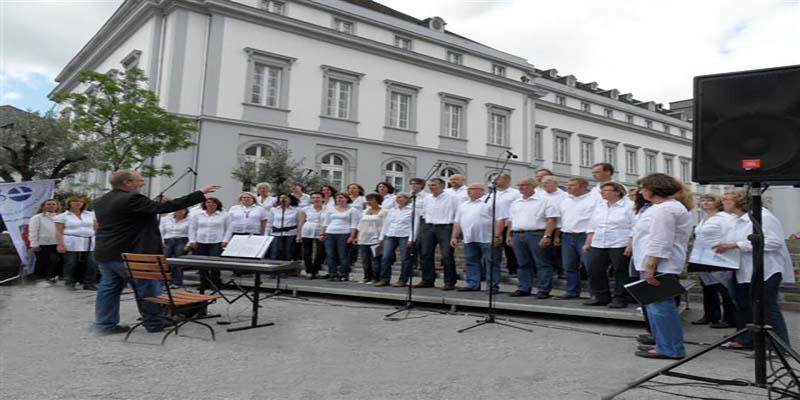 Die Stimmicals sangen im Programm der BUGA eine Mischung aus Rock, Pop und Gospel